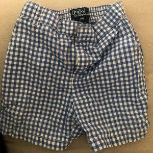 Preppy blue gingham Polo Ralph Lauren shorts